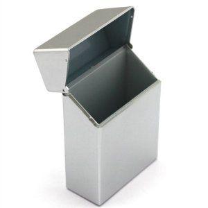 Etui Zigaretten box Grau 1stk